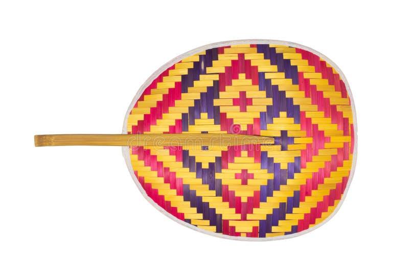 Ventilator van bamboe wordt gemaakt (Thaise inwoner die) royalty-vrije stock afbeelding