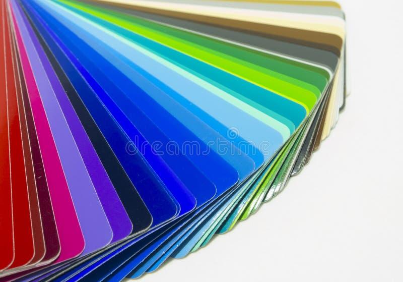 Ventilator van kleurrijk zelfklevend vinyl Geïsoleerde royalty-vrije stock foto's