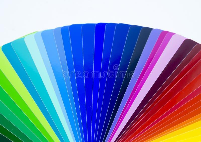 Ventilator van kleurrijk zelfklevend vinyl Geïsoleerde royalty-vrije stock afbeelding