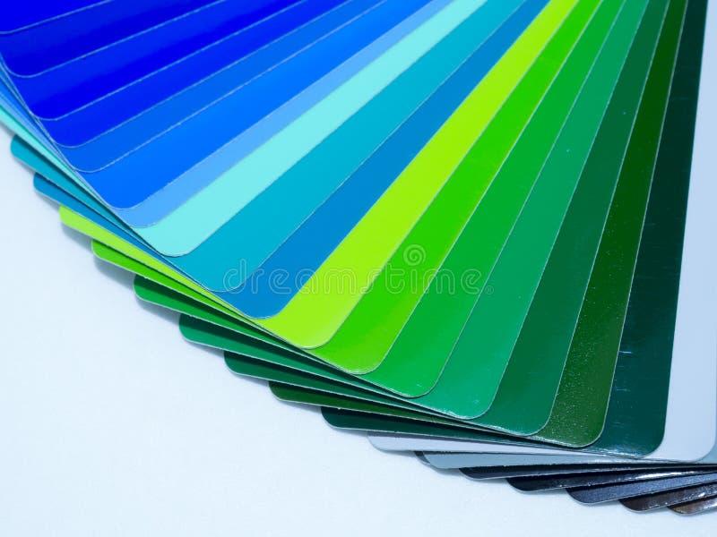 Ventilator van kleurrijk zelfklevend vinyl Geïsoleerde stock afbeelding
