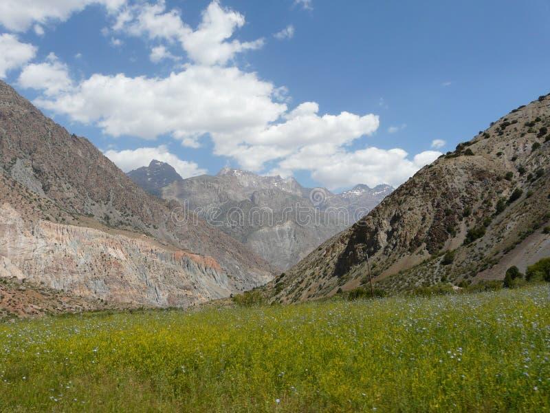 Ventilatorbergen van Tadzjikistan stock foto