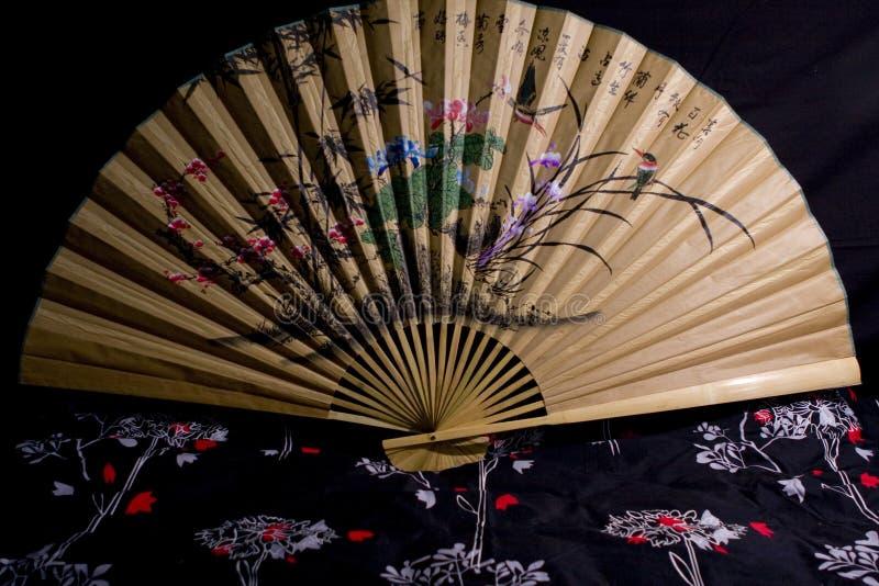 Ventilatore asiatico fotografia stock