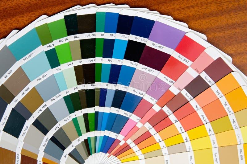 Ventilatore dei colori fotografie stock libere da diritti