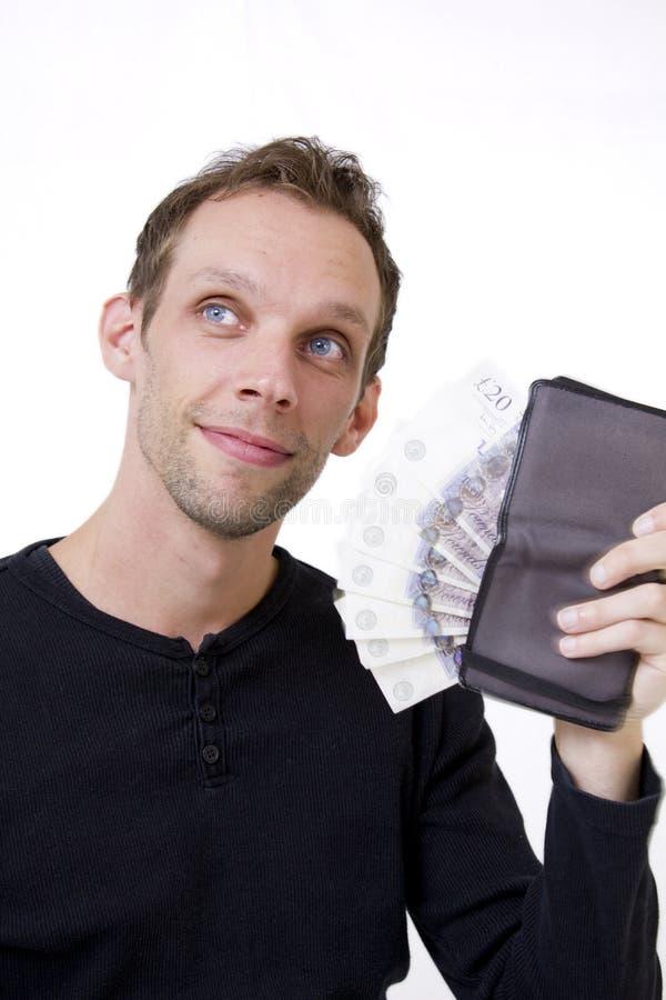 Ventilatore dei soldi fotografia stock