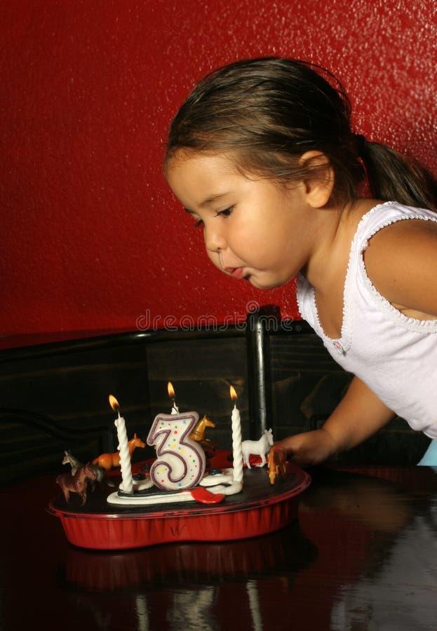 Ventilatore della candela di compleanno immagine stock libera da diritti