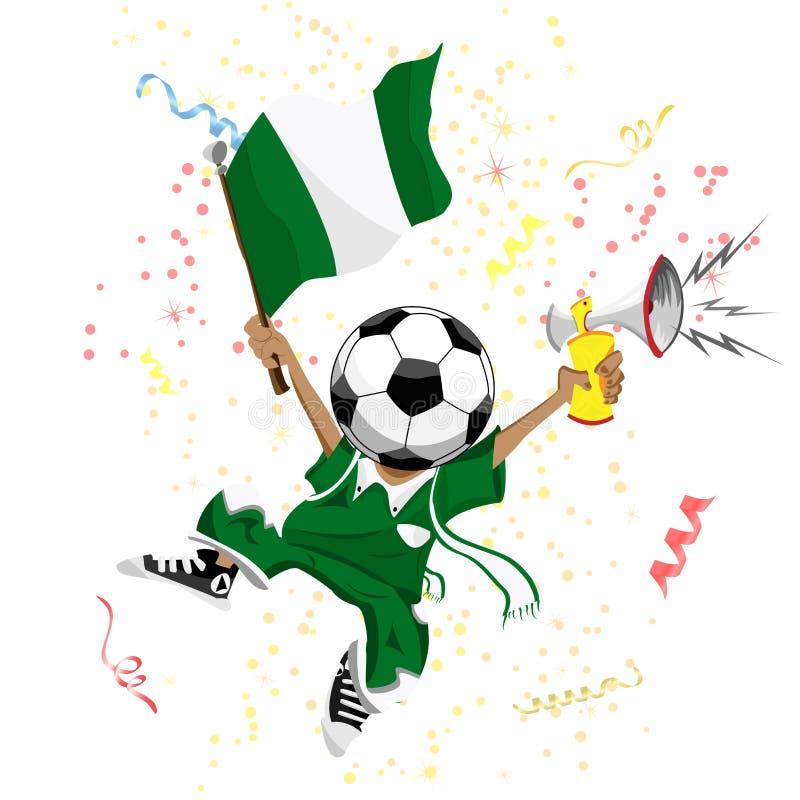 Ventilatore di calcio della Nigeria illustrazione vettoriale
