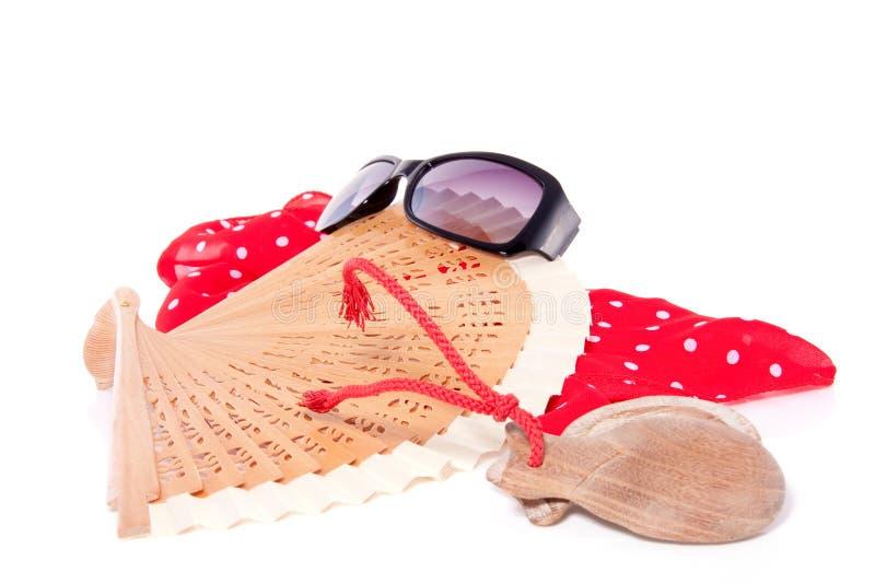 Ventilatore di flamenco con i naccheri immagine stock