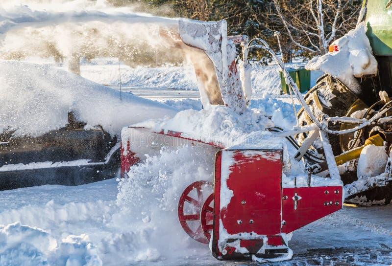 Ventilatore di neve fotografia stock libera da diritti