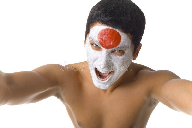 Ventilatore giapponese nudo immagine stock libera da diritti