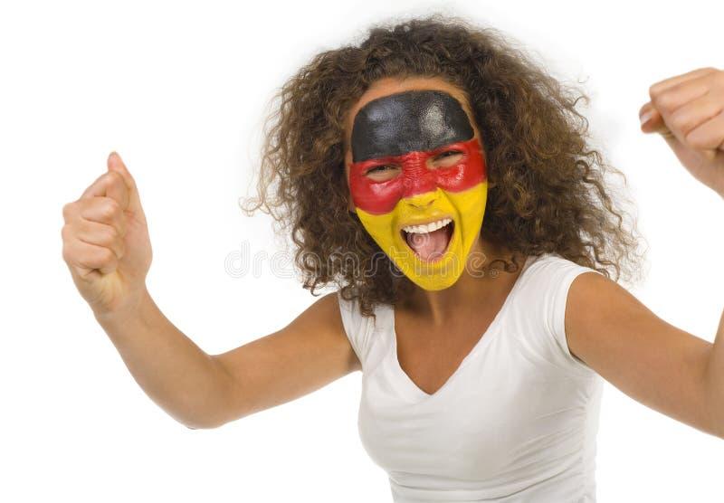 Ventilatore tedesco pazzesco fotografie stock