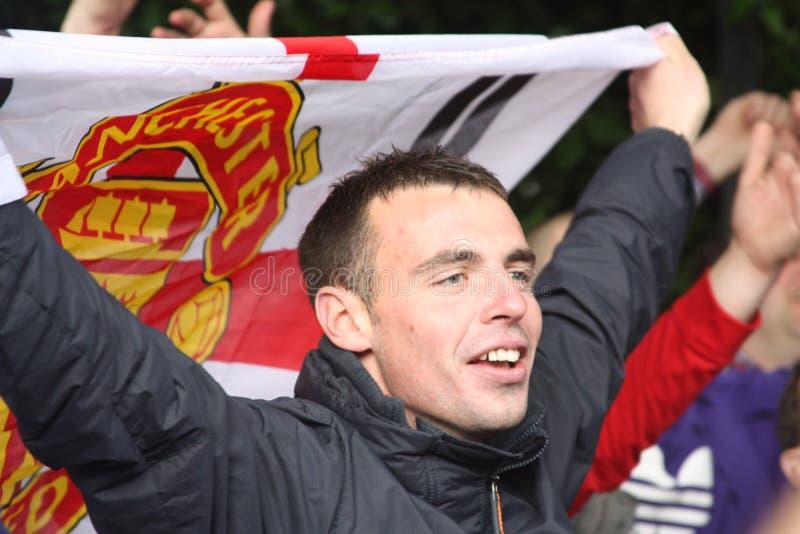 Ventilatore In Wembley, Londra Di Manchester United Immagine Editoriale