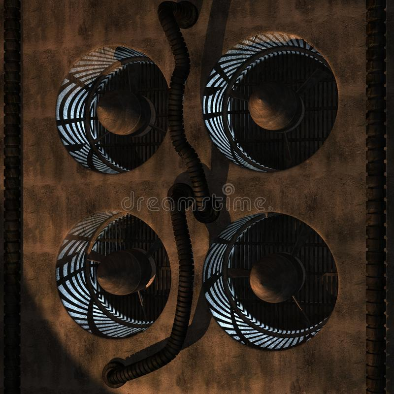 ventilatorer royaltyfri illustrationer