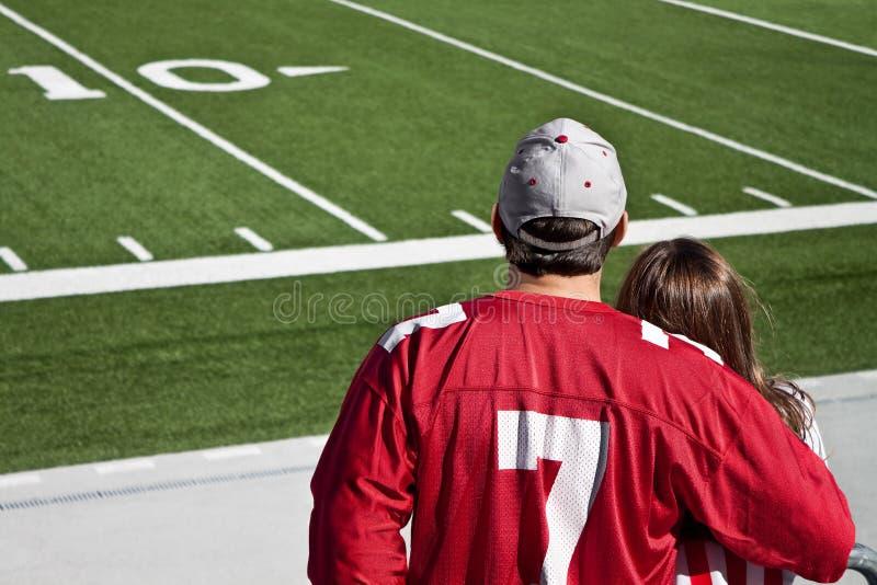 Ventilatori di football americano fotografie stock