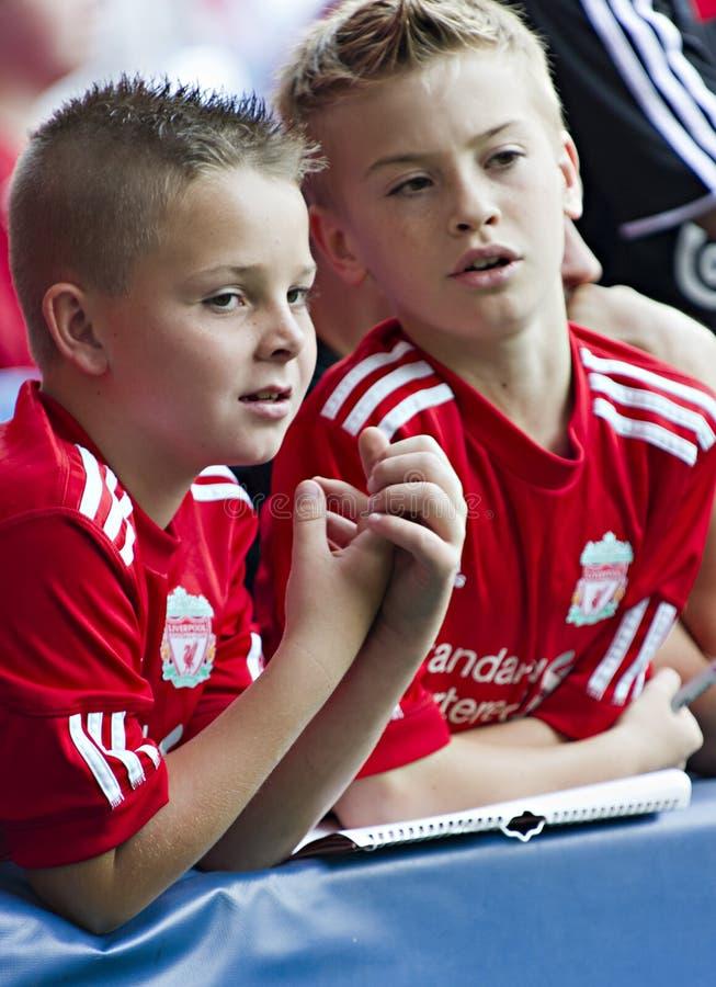 Ventilatori di Liverpool fotografia stock