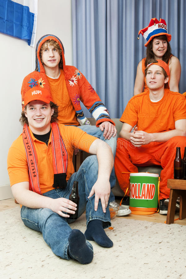 Ventilatori di sport nel paese fotografie stock libere da diritti