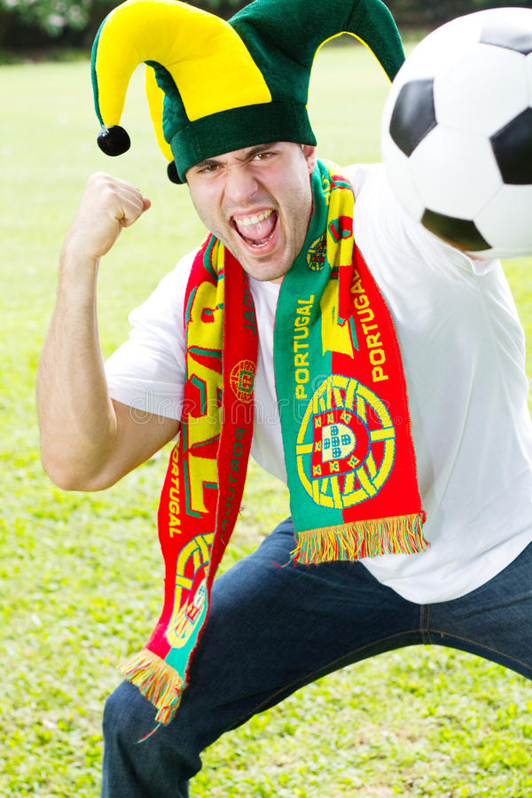 ventilatorportugal fotboll royaltyfri foto