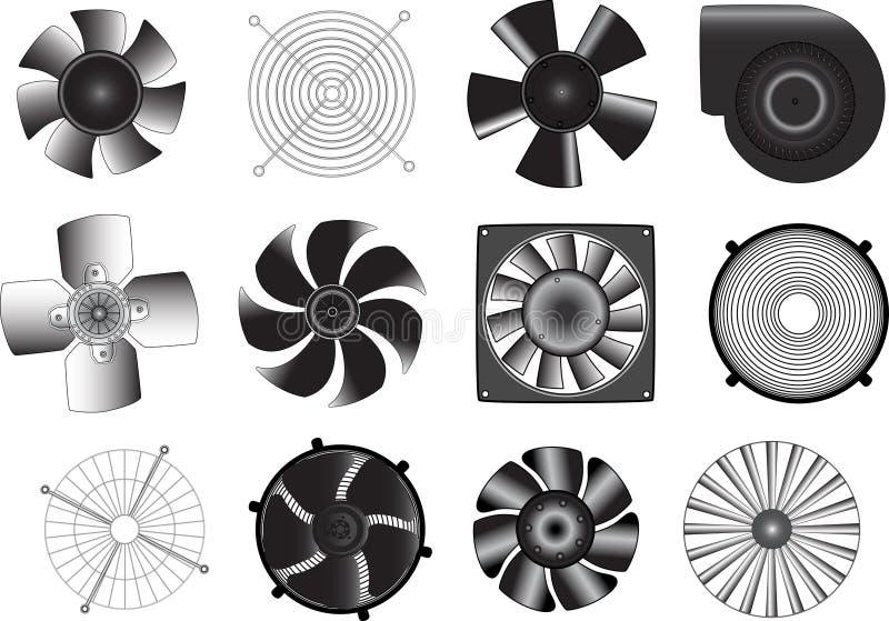 Ventilators royalty free stock photos