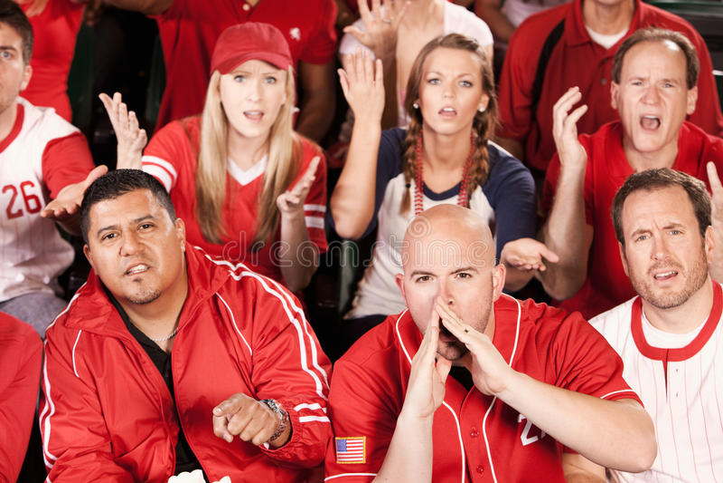 Ventilators: De boze Fans boe roepen het Spel royalty-vrije stock afbeelding