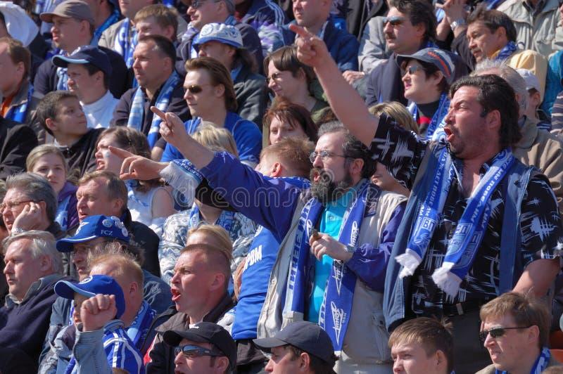 Ventilators van een Zenit van het voetbalteam royalty-vrije stock afbeeldingen