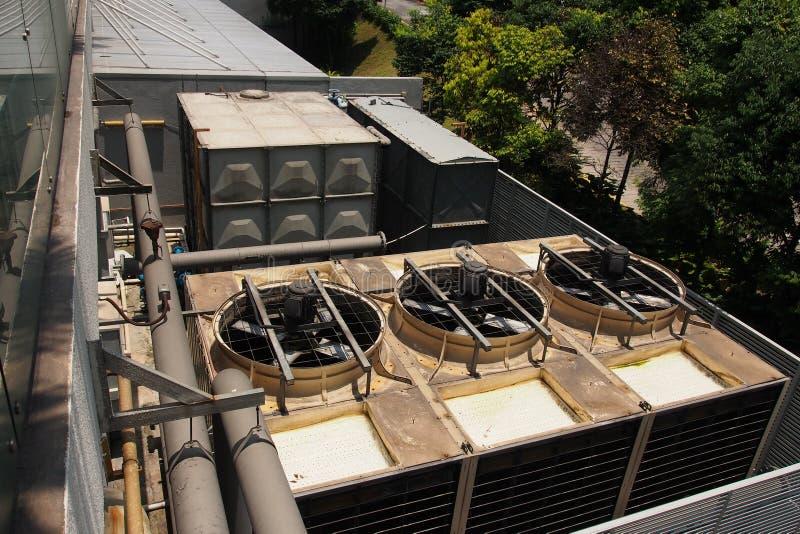 Ventilazione industriale del riscaldamento e ricuperatore del condizionamento d'aria fotografia stock