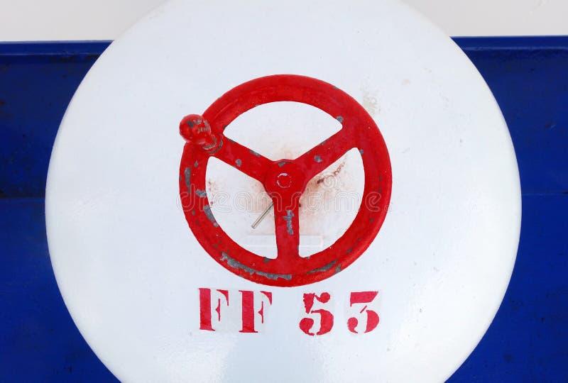 Ventildetail über ein Bootsdeck lizenzfreie stockfotos