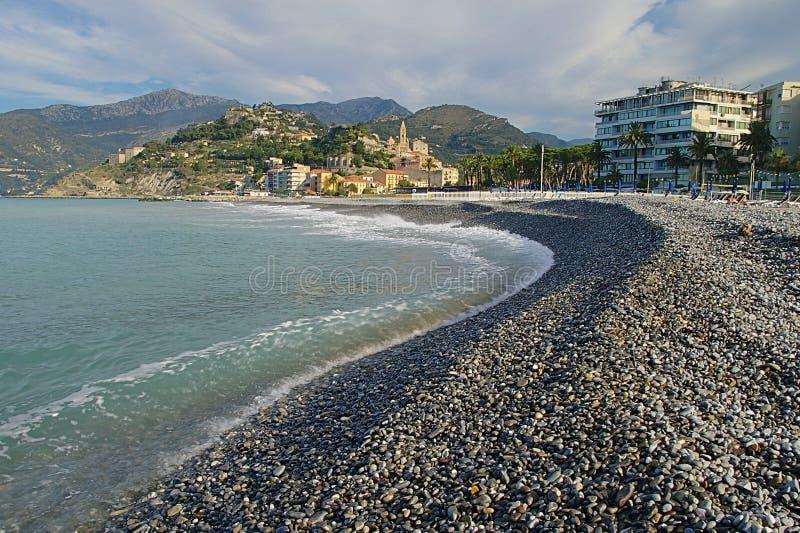 Ventimiglia - Strand royalty-vrije stock foto