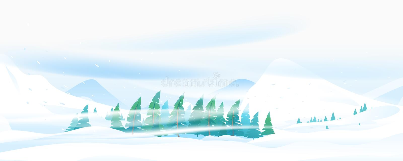 Ventisca de la nieve en montaña libre illustration