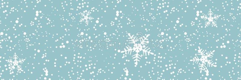 Ventisca del invierno, fondo inconsútil stock de ilustración