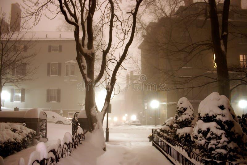 Ventisca en Boston imagenes de archivo