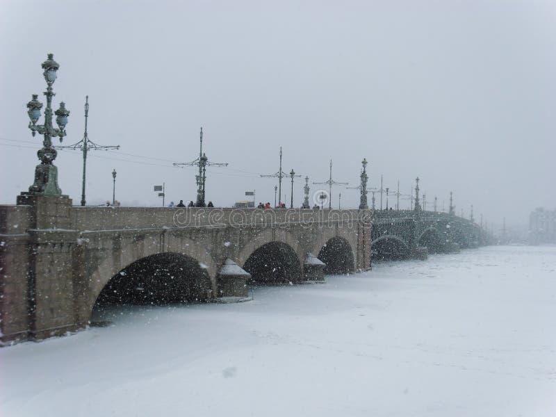 Ventisca en St Petersburg Rusia imagen de archivo libre de regalías