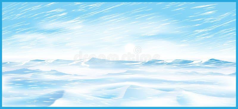 Ventisca septentrional stock de ilustración
