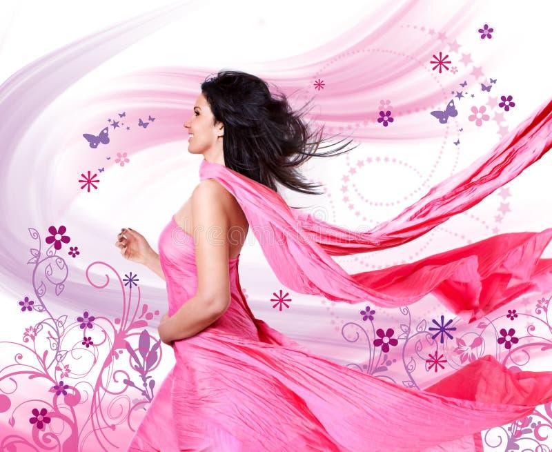 Vento cor-de-rosa 3 imagem de stock
