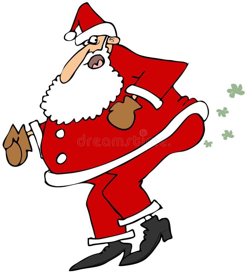 Vento de quebra de Santa ilustração stock