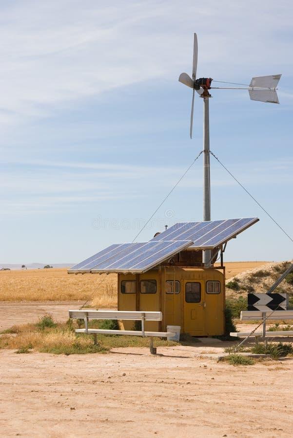 Vento e solar caseiros fotografia de stock royalty free