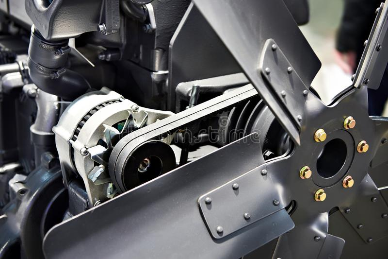 Ventola di raffreddamento del motore diesel immagine stock