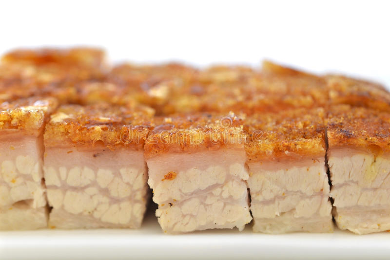 Ventre rôti croustillant de porc photographie stock libre de droits
