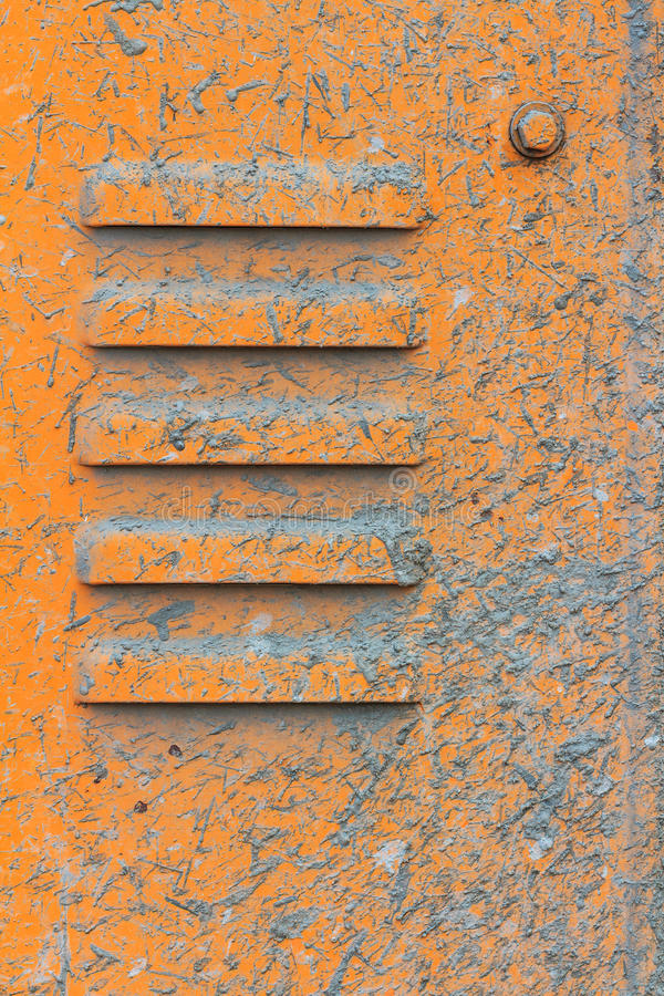 Download Vents On The Yellow Metal Plate With Splashes Of C Stock Photo - Image: 28916732