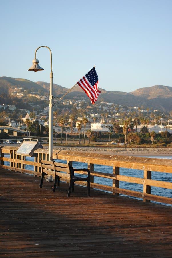 Ventura αποβάθρα στο ηλιοβασίλεμα στοκ εικόνα με δικαίωμα ελεύθερης χρήσης