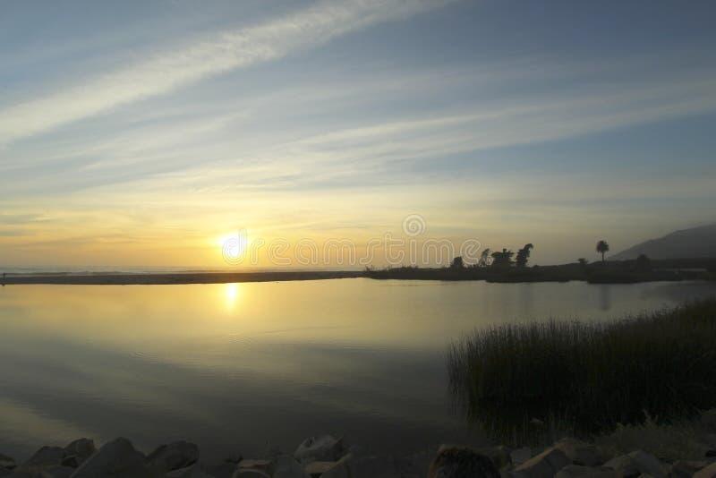 Ventura Καλιφόρνια ηλιοβασιλέματος παραλία στοκ φωτογραφία με δικαίωμα ελεύθερης χρήσης