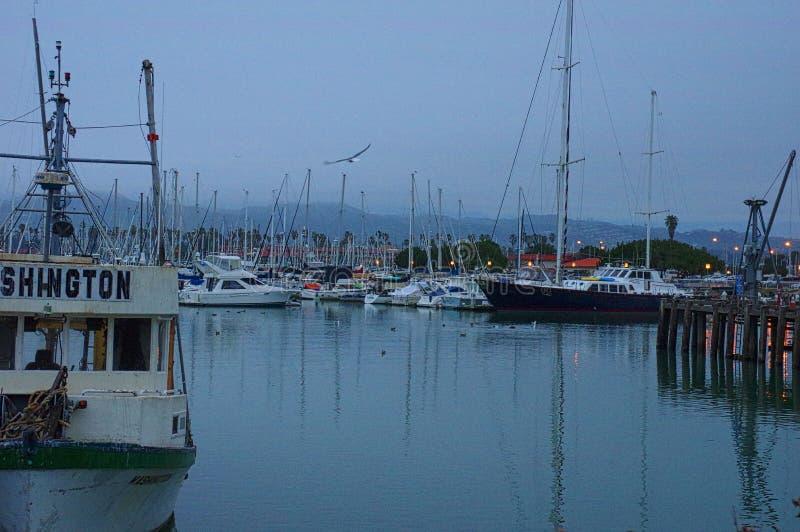 Ventura λιμάνι, ευχαρίστηση και βάρκες εργασίας στοκ εικόνα