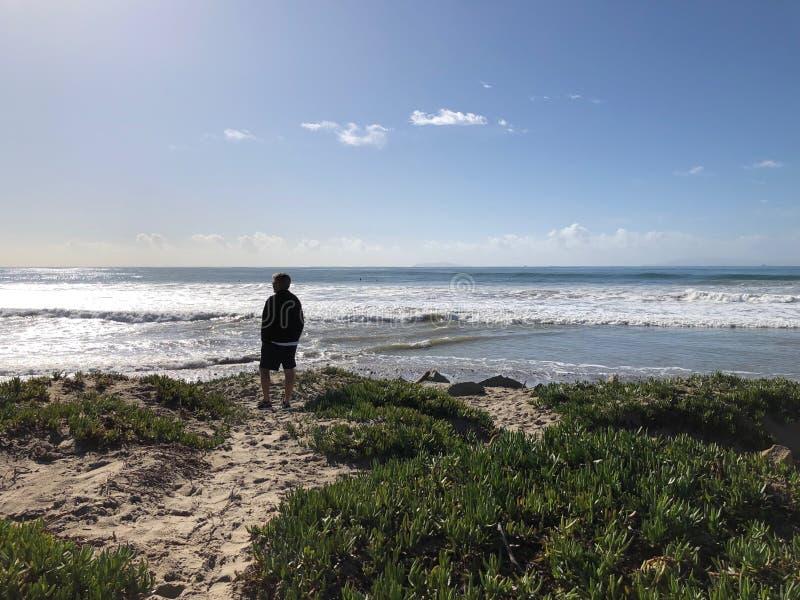 Ventura Beach-Mann stockbilder