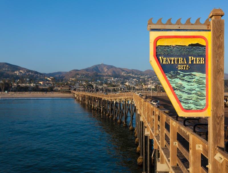 Ventura, Californa-Pier stockbilder