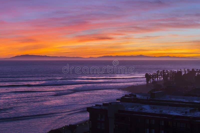 Download Ventura California Pacific Sunset Foto de archivo - Imagen de recorrido, oscuridad: 64201550