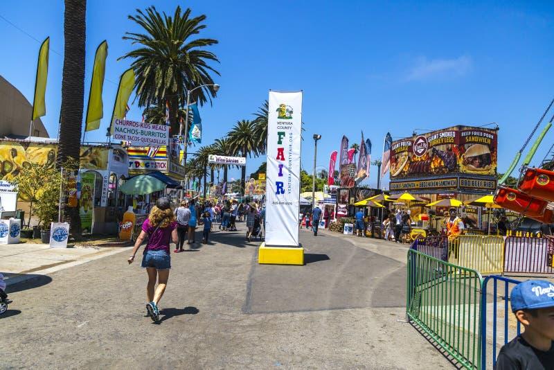 Ventura County Fair Midway imagem de stock