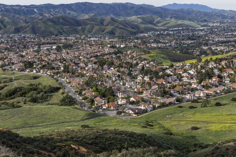 Ventura County Suburban Spring près de Los Angeles la Californie image libre de droits