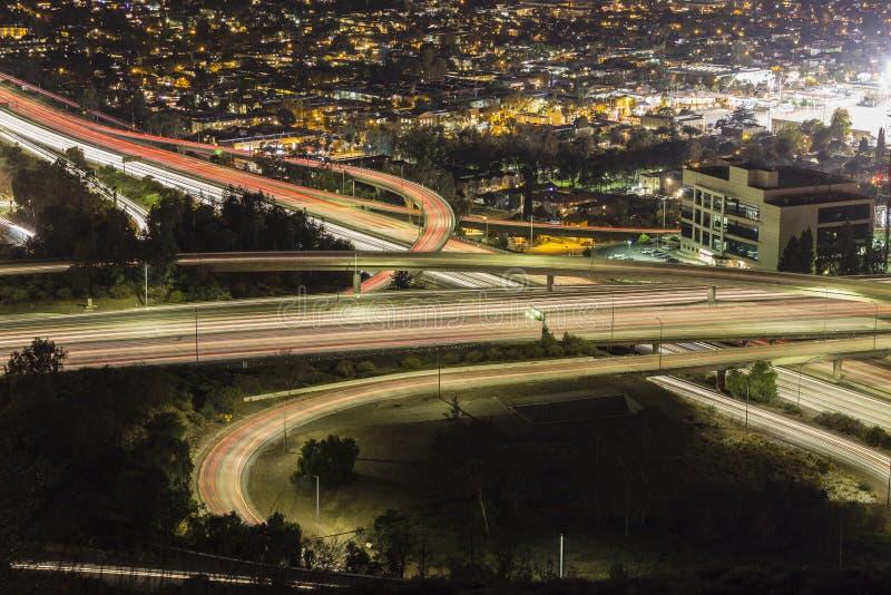 Ventura Freeway an Glendale-Autobahn in Los Angeles stockbilder
