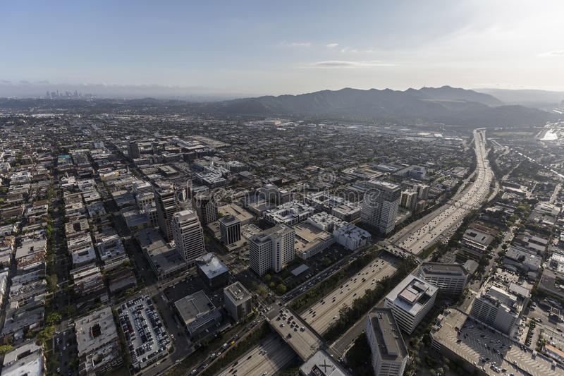 Ventura Freeway und Antenne Glendales Kalifornien stockfotos