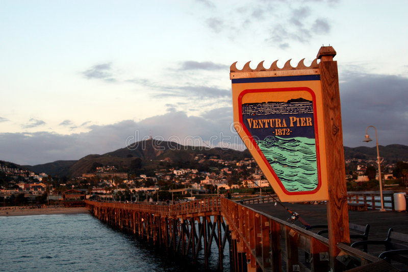 Ventura molo fotografia royalty free