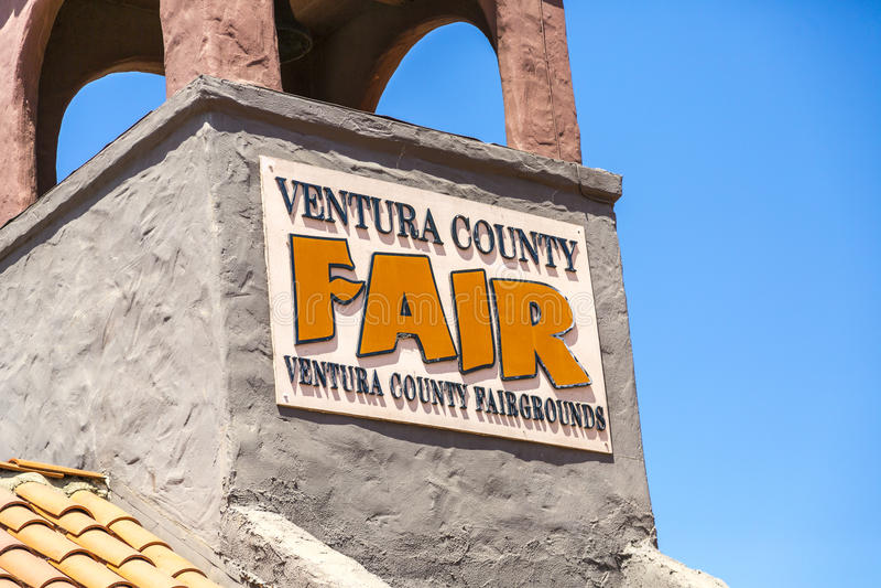Ventura okręgu administracyjnego jarmark fotografia stock