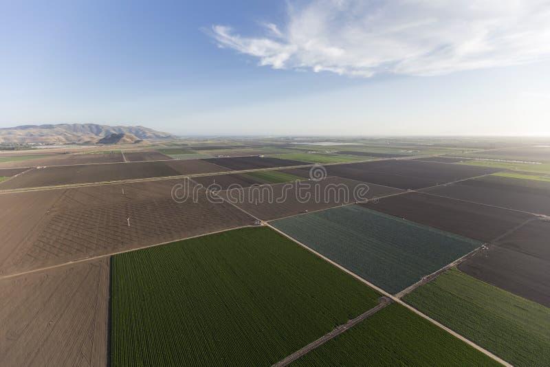 Ventura okręgu administracyjnego Kalifornia Rolni pola Powietrzni zdjęcie stock